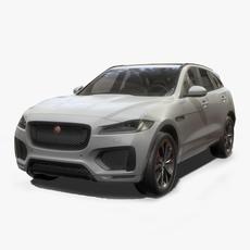 Jaguar F-Pace Low Poly 3D Model