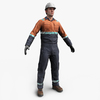 Construction Worker 3D Model