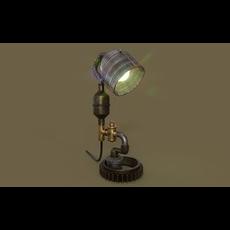 Steampunk Lamp 3D Model