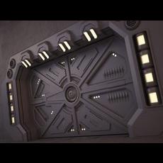 Sci-Fi Door 02 3D Model