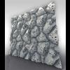 21 34 48 300 main volcanic stone 3d tiling sculpt boney toes 4