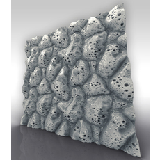 Volcanic Stone 3d Tile Sculpt 3D Model
