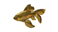 low poly fish figure 3D Model