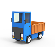 Cartoon freight car 3D Model