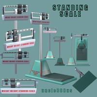 Standing Scales 3D object 3D Model