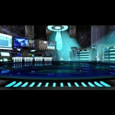Super Hero Cave Lair Underground HQ 3D Model