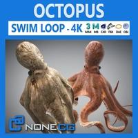 Animate Octopus 3D Model