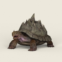 Game Ready Fantasy Turtle 3D Model
