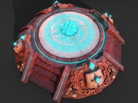3d Aztec Pyramid Altar GAME READY 3D Model