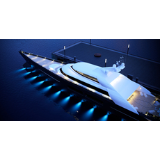 mega yacht complete day and night scenes 3D Model