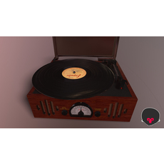 Vinyl Player Lowpoly 3D Model
