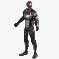 Alien Robot character 3D Model