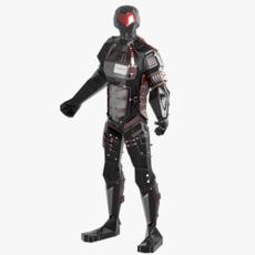 Alien Robot character 3D Model