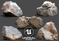UE4 Photogrammetry 3D Scan Stone Pack VOL 1 3D Model