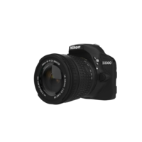D3300 24MP DSLR Camera Black 3D Model