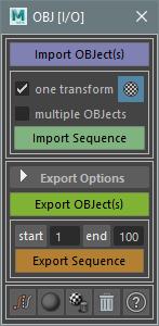 OBJ[I/O] - OBJ Sequences Import/Export for Maya