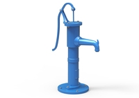 Hand water pump old 3D Model