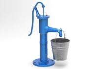 Water pump and bucket 3D Model