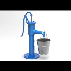Water pump and bucket 3D Model
