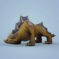 Fantasy Wild Monster Animal 3D Model