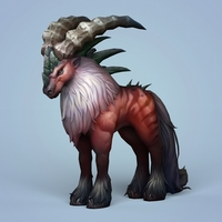 Fantasy Monster Mouflon 3D Model