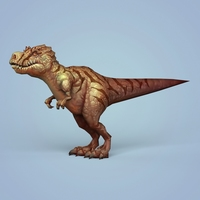 Fantasy Cartoon Dinosaur Trex 3D Model