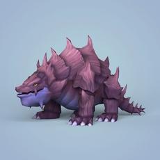Fantasy Cartoon Monster 3D Model