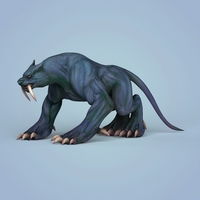 Fantasy Monster Leopard 3D Model