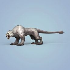 Fantasy Snow Tiger 3D Model