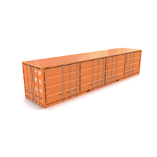 40ft Shipping Container Side Open 3D Model