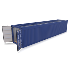 40ft Shipping Container Open Top no Cover 3D Model