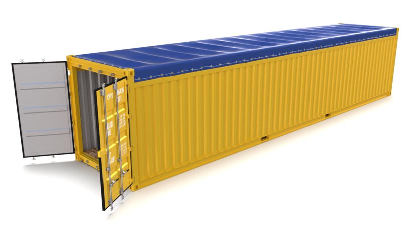 40ft Shipping Container >> 40ft Shipping Container Open Top 3d Model