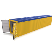40ft Shipping Container Open Top 3D Model