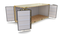 20ft Shipping Container Side Open 2 3D Model