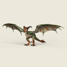 Game Ready Fantasy Wild Dragon 3D Model