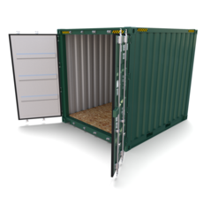 10ft Shipping Container 3D Model