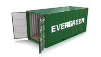 20ft Shipping Container Evergreen 3D Model