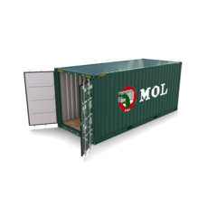 20ft Shipping Container MOL 3D Model