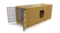 20ft Shipping Container MSC 3D Model