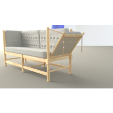 High poly sofa 3D Model