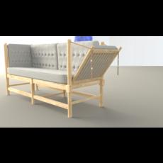 High poly sofa 3D Model