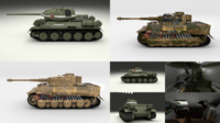 Eastern Front Armor Pack with Interior v1 3D Model