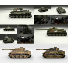 Eastern Front Armor Pack with Interior v2 3D Model