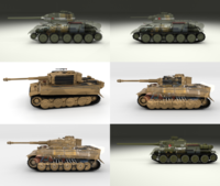 Eastern Front Armor Pack with Interior and Engine Bay v2 3D Model