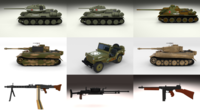 Full WW2 Pack 3D Model