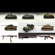 Full WW2 Pack 3D Model