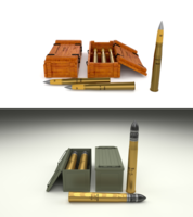 Soviet 85mm and German 88mm Ammo Pack 3D Model