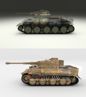 T34-76 Tiger Tank Early Pack with Interior and Engine Bay 3D Model
