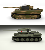 T34-85 Tiger Tank Late Pack 3D Model