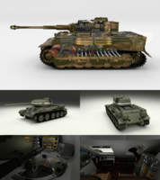 T34-85 Tiger Tank Late Pack with Interior 3D Model